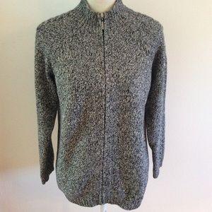 Liz Claiborne lizsport marbled zip up sweater
